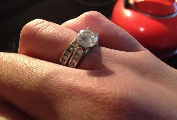 cathedral diamond setting