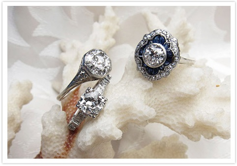 retro engagement rings